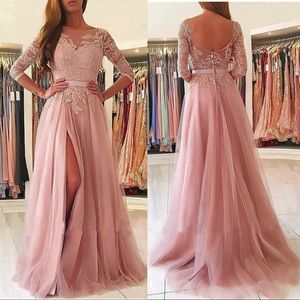Dresses & Skirts - Tulle embroidery dress prom or bridesmaid dress